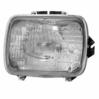 CH2501104 1984-2001 JEEP CHEROKEE_(MIDSIZE) PASSENGER SIDE HEADLIGHT SEALED BEAM- INCLUDES LAMP/ BUCKET AND CHROME TRIM RING- FITS DRIVER SIDE 1984-1996 AND PASSENGER