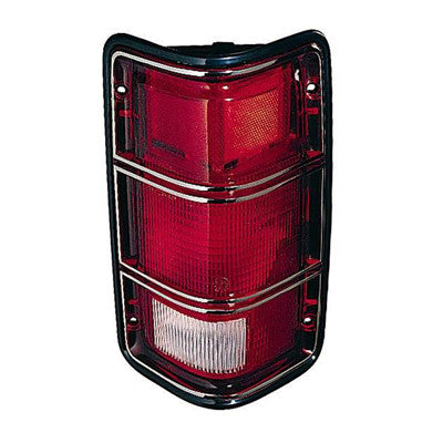 CH2800117 DRIVER SIDE TAIL LIGHT ASSEMBLY- WITH BLACK RIM- TO PRODUCTION DATE 12/01/1987