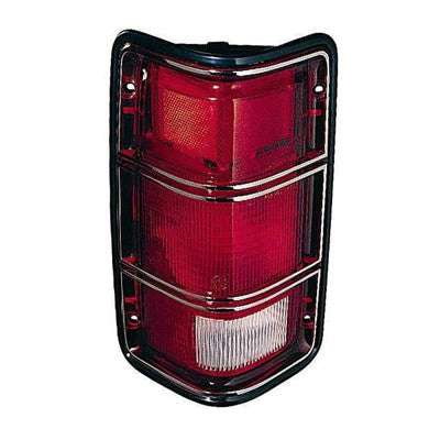 CH2801117 PASSENGER SIDE TAIL LIGHT ASSEMBLY- WITH BLACK RIM- TO PRODUCTION DATE 12/01/1987