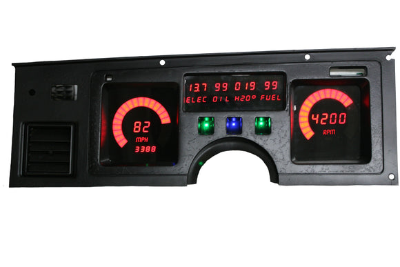 LED Digital Replacement Gauge Panel (84-89 Corvette) Direct Replacement Digital Cluster