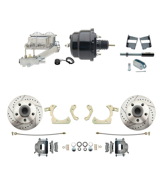 1959-1964 GM Full Size Disc Brake Kit Drilled/Slotted Rotors (Impala, Bel Air, Biscayne) & 8