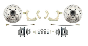 1959-1964 GM Full Size Disc Brake Conversion Kit w/ Drilled/ Slotted Rotors (Impala, Bel Air, Biscayne)