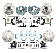 1962-1972 Mopar A Body Large Bolt Pattern High Performance Disc Brake Conversion Kit w/ Powder Coated Black Calipers