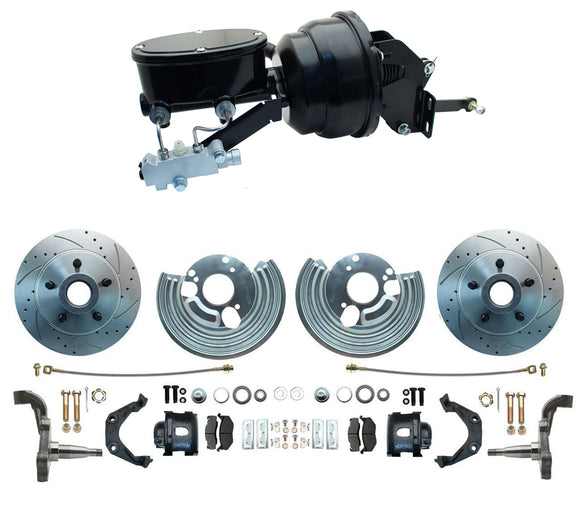 1962-1972 Mopar B-Body & E-Body High Performance Big Brake Kit w/ Powder Coated Black Calipers & Wilwood Style Booster Kit