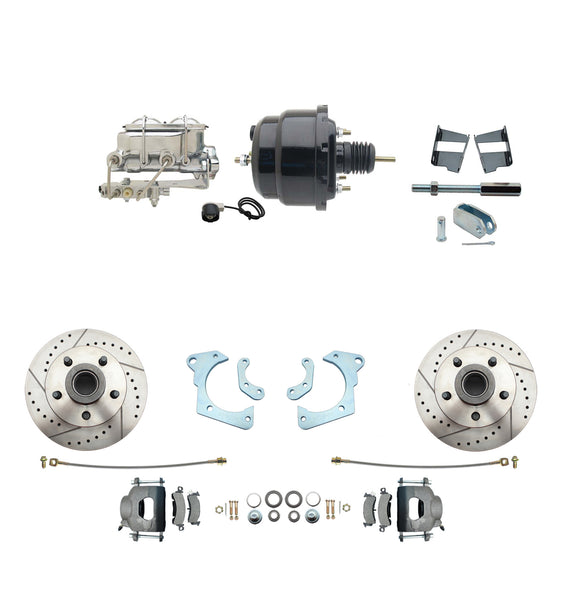 1965-1968 GM Full Size Disc Brake Kit Drilled/Slotted Rotors (Impala, Bel Air, Biscayne) & 8