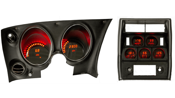 LED Digital Replacement Gauge Panel (68-77 Corvette) Direct Replacement Digital Cluster