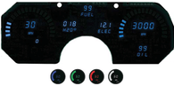LED Digital Replacement Gauge Panel (82-90Camaro)  Direct Replacement Gauge Cluster