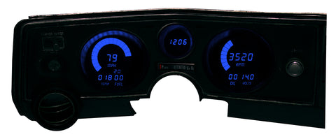 LED Digital Replacement Gauge Panel (1969 Chevelle)  Direct Replacement Digital Cluster