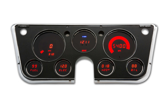 LED Digital Replacement Gauge Panel (67-72 Chevy) Direct Replacement Gauge Cluster