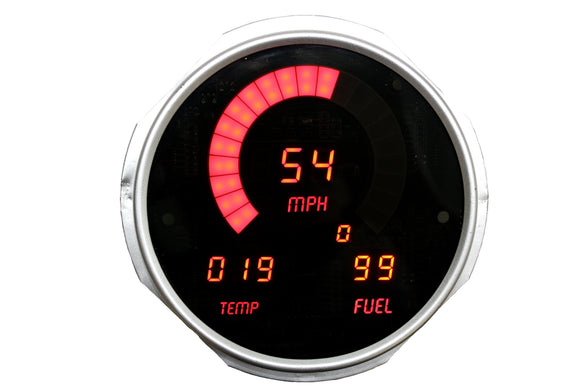 LED Digital Replacement Gauge Panel (55-86 Jeep) Direct Replacement Gauge Cluster