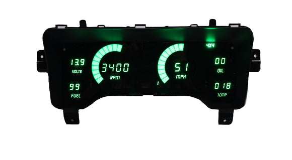 LED Digital Replacement Gauge Panel (97-06 Jeep TJ Jeep) Direct Replacement Gauge Cluster