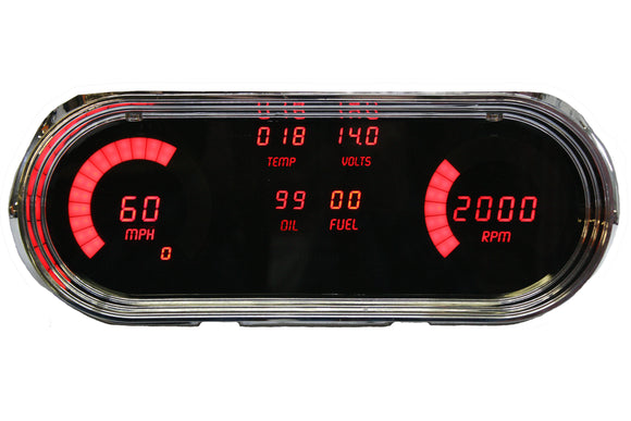LED Digital Replacement Gauge Panel (62-65 Nova) Direct Replacement Gauge Cluster