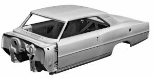 1966-67 Chevy II Body Shell Mini-Tubbed Column Shift Bench Seat With Quarter Panels, Top Skin, Doors & Deck Lid