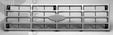 FO1200117 1980-1986 FORD BRONCO and 1980-1986 FORD PICKUP GRILLE- SILVER/BLACK- EXACT REPLICA FOR 1982-1986 BUT FITS 1980-1986