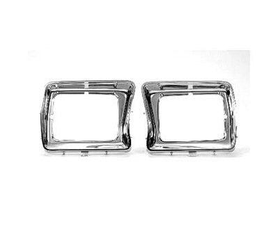 FO2512114 1978-1979 FORD BRONCO and 1978-1979 FORD PICKUP HEADLAMP BEZEL- ALL CHROME- USE WITH SQUARE LAMPS- DRIVER SIDE