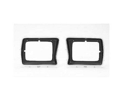 FO2513103 1978-1979 FORD BRONCO and 1978-1979 FORD PICKUP PASSENGER SIDE HEAD LIGHT DOOR- BLACK/SILVER- RECTANGLE