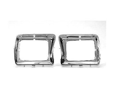 FO2513115 1978-1979 FORD BRONCO and 1978-1979 FORD PICKUP HEADLAMP BEZEL- ALL CHROME- USE WITH SQUARE LAMPS- PASSENGER SIDE