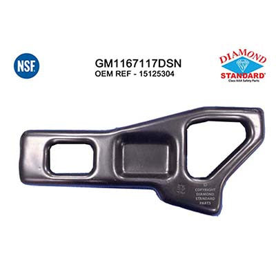 GM1167117DSN PASSENGER SIDE REAR BUMPER INNER BRACKET