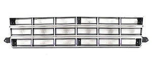 GM1200130 GRILLE- CHROME/SILVER- CHEVY ONLY
