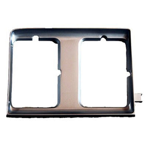 GM2513116PP HEAD LIGHT DOOR- BLACK- WITH CHROME STRIP- PASSENGER SIDE