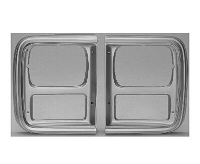 GM2513122V PASSENGER SIDE HEAD LIGHT DOOR- SILVER- WITH SINGLE HEAD LIGHT- EXCEPT MODELS WITH CHROME GRILLE