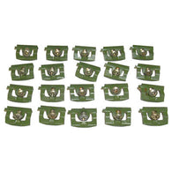 GMK2161715682S 1968-1970 DODGE CHARGER 20-PIECE REAR WINDOW REVEAL MOULDING CLIP SET