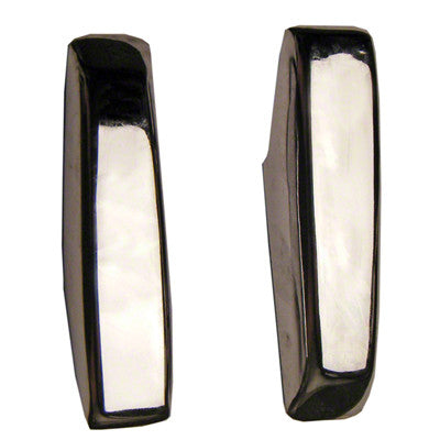 GMK242289570P 1970-1972 PLYMOUTH BARRACUDA BUMPER GUARD REAR LH- PAIR- WITHOUT CUSHIONS