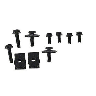 GMK3020055641S 1964-1965 FORD MUSTANG GRILLE BAR HARDWARE KIT- 10 PIECES