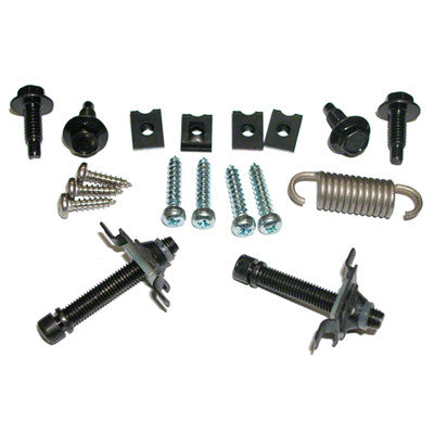 GMK302006964S 1964-1966 FORD MUSTANG HEAD LIGHT HARDWARE KIT- CONSISTS OF SCREWS- SPRINGS- CLIPS AND NUTS- 2 KITS REQUIRED