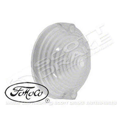 GMK3020070641 1964-1964 FORD MUSTANG CLEAR PARK LIGHT LENS WITH LOGOS