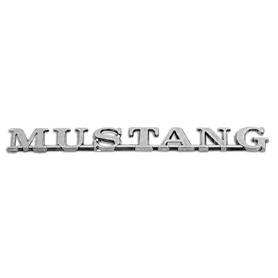 GMK3020130651 1965-1966 FORD MUSTANG FENDER EMBLEM- MUSTANG FOR MODELS WITH ALTERNATOR- EXCEPT 2-2 AND GT MODELS- 2 REQUIRED