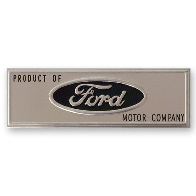 GMK302057664 1964-1966 FORD MUSTANG BLACK DOOR SILL PLATE EMBLEM- inPRODUCT OF FORD MOTOR COMPANYin