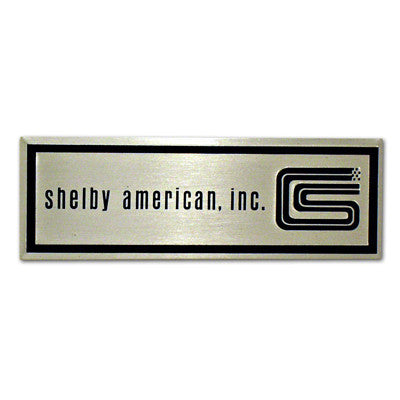 GMK302057665P 1965-1966 FORD MUSTANG DRIVER AND PASSENGER SIDE PAIR OF BLACK AND SILVER DOOR SILL PLATE EMBLEMS