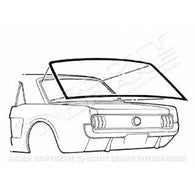GMK302071864 1964-1968 FORD MUSTANG REAR WINDOW GASKET FOR COUPE MODELS