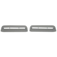 GMK302125567P 1967-1968 FORD MUSTANG DRIVER AND PASSENGER SIDE PAIR OF HOOD LOUVER PLATES FOR GT MODELS WITH SIGNAL LIGHTS IN HOOD