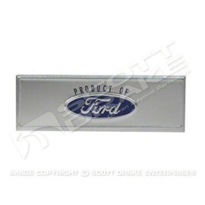 GMK302157668 BLUE 'PRODUCT OF FORD' DOOR SILL PLATE EMBLEM