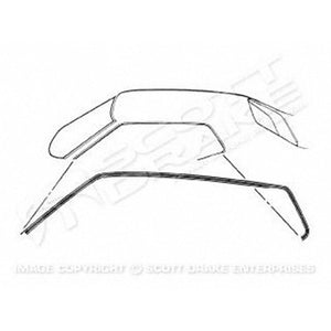 GMK3023537711P DRIVER AND PASSENGER SIDE PAIR OF ROOF RAIL WEATHERSTRIPS FOR COUPE MODELS