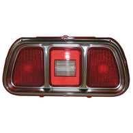 GMK302384571 1971-1972 FORD MUSTANG DRIVER OR PASSENGER SIDE TAIL LIGHT LENS WITH MOULDING- 2 REQUIRED