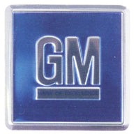 GMK4012453681 BLUE GM DOOR JAMB DECAL FOR ALL 1968-1970 GM CARS- 2 REQUIRED