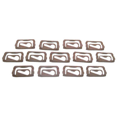 GMK4020525675S 13-PIECE FRONT UPPER/SIDE REVEAL MOULDING CLIP SET FOR COUPE MODELS WITHOUT VINYL TOP
