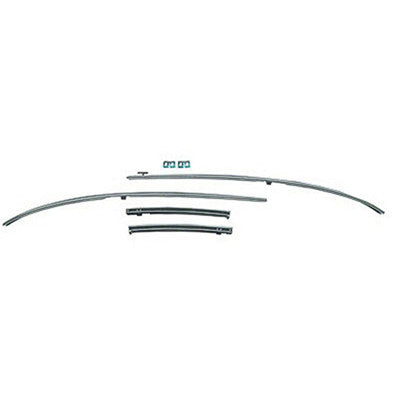 GMK4033537701S 1970-1972 CHEV CHEVELLE AND MALIBU STAINLESS STEEL ROOF RAIL INNER WEATHERSTRIP CHANNEL SET
