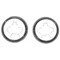 GMK414006047P 1947-1955 CHEV GMC PICKUP C/K AND SUBURBAN DRIVER AND PASSENGER SIDE PAIR OF STAINLESS STEEL HEAD LIGHT BEZELS WITH FASTENERS