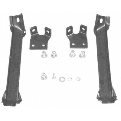 GMK414100555S 1955-1957 CHEV PICKUP C/K BUMPER BRACKET SET- FRONT- 2ND SERIES- 4-PIECES- WITH FRAME BOLTS