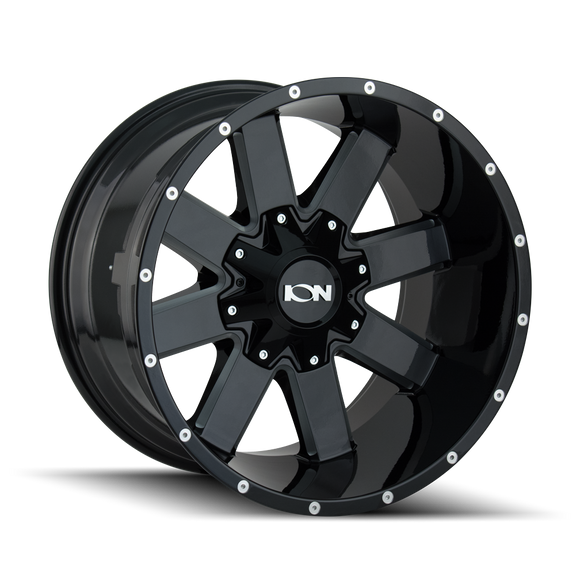 141 Series GLOSS BLACK/MILLED SPOKES
