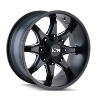181 Series SATIN BLACK/MILLED SPOKES