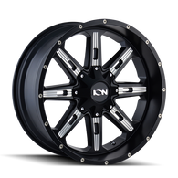 184 Series SATIN BLACK/MILLED SPOKES