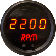 "LED Digital Tachometer 2 1/16"", Programmable, w/ chrome bezels"