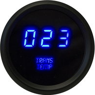 "LED Digital Transmission Temp 2  1/16"" 50 to 350 Degrees F° black bezel  (Includes sender)"