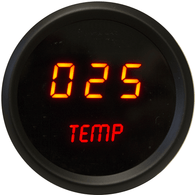 "LED Digital Oil Temperature Gauge 2  1/16"" 50 to 350 Degrees F° black bezel ( Includes sender)"