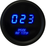 "LED Digital Inside Air Temperature Gauge 2 1/16"" 0 to 250 Degrees  F°  black bezel (sender included)"
